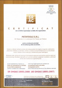 Certificare ISO 18001