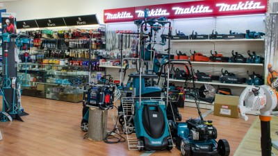 Stand MAKITA în showroom Metatools