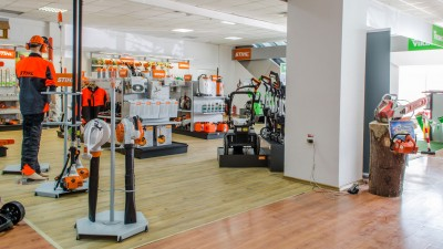 Stand STIHL în showroom Metatools