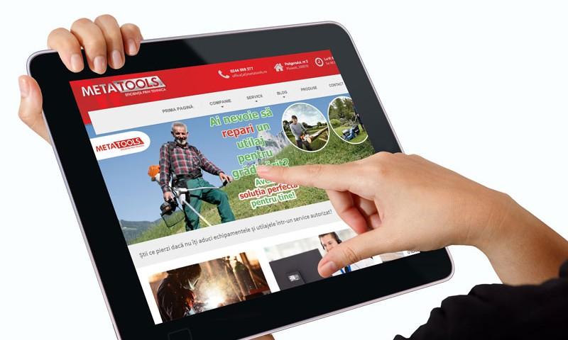 METATOOLS Ploiești a lansat un nou concept al site-ului www.metatools.ro