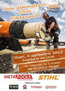 Show Stihl Timbersports la sediul Metatools