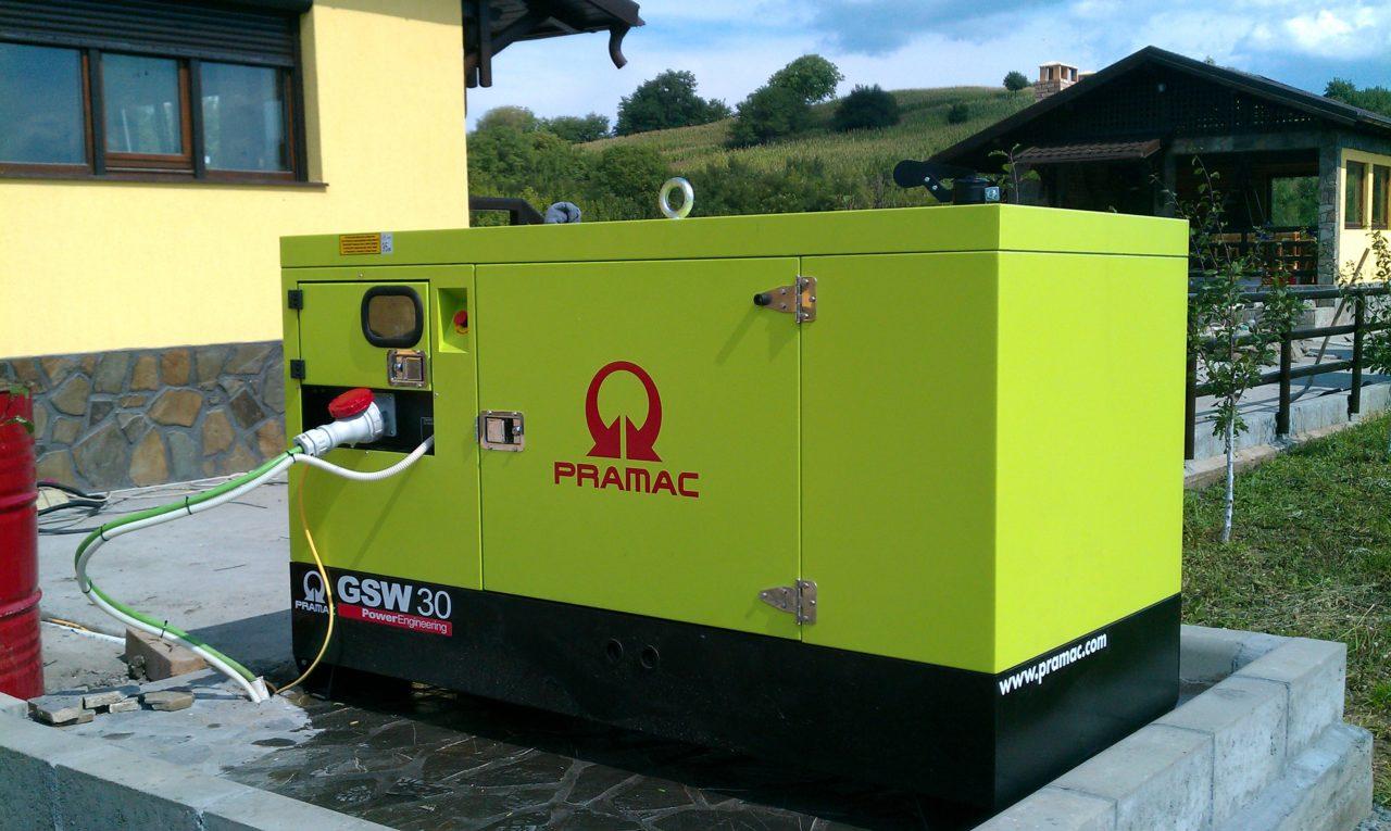 Generator stationar Pramax GSW30 - Instalare rezidentiala - Pensiune agroturistica